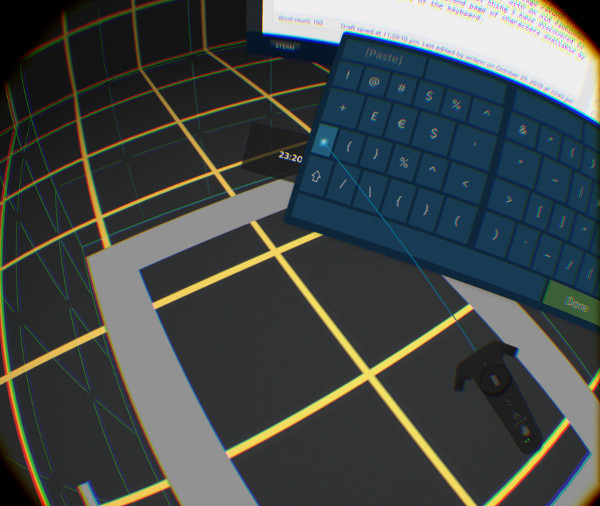 SteamVR keyboard's extra characters key