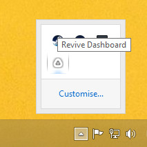 Revive Dashboard icon in Windows System Tray